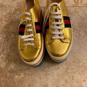 Gucci  rainbow platform